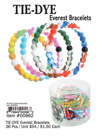 Tie Dye Everest Bracelets Wholesale