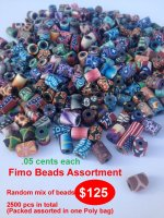 Fimo Beads Assortment Wholesale - Closeout