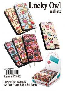 Lucky Owl Wallets Wholesale