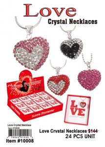 Wholesale Love Crystal Necklaces