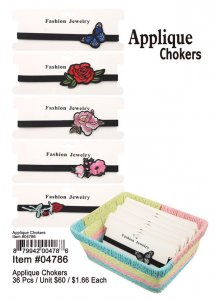Applique Chokers Wholesal