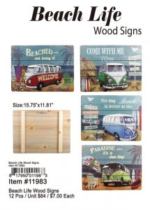 Beach Life Wood Signs Wholesale