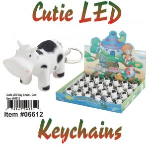 Wholesale Cuties Led Key chains COW