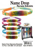 Name Drop Macrame Bracelets Wholesale