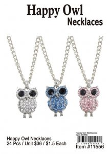 Happy Owl Necklaces Wholesale