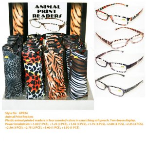 Wholesale Animal Print Readers APR24
