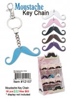 Moustache Keychains ON CLEARANCE
