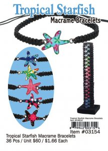 Tropical Starfish Macrame Braclets Wholesale