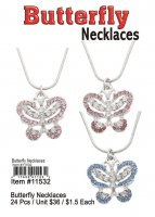 Butterfly Necklaces Wholesale