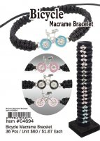 Bicycle Macrame Bracelets Wholesale