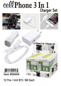 Cell 3In1 Charger Sets Wholesale