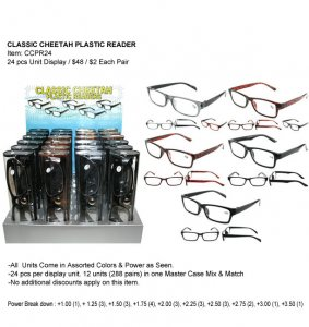 Classic Cheetah Plastic Readers
