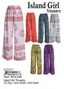 Island Girl Trousers Wholesale