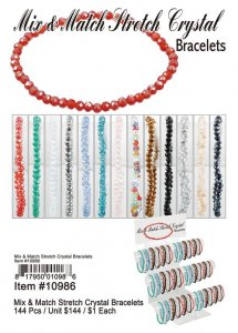 Mix Match Stretch Crystal Bracelets Wholesale