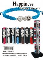 Wholesale Happiness Macrame Bracelets