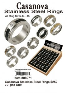 Wholesale Casanova Stainless Steel Rings