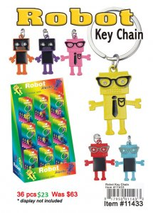 Robot Key Chains NOW ON CLEARANCE