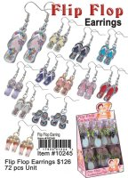Children's Flip Flop Earrings Wholesale