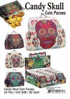 Candy Skull Coin Purses Wholesale
