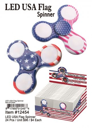 Led Usa Flag Fidget Spinner Wholesale