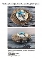 Natural Coconut Basket with Assorted Shells Venice