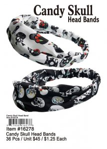 Candy Skull Head Bands Wholesale