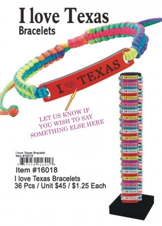 Wholesale Bracelets I Love Texas