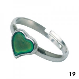 Wholesale Mood Rings - Style 19 - Heart