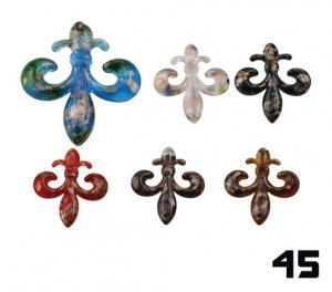 Wholesale Flur De Lis 45 - 12 PendantS BOXED AND CORDED