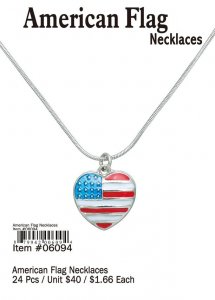 American Flag Necklaces Wholesale