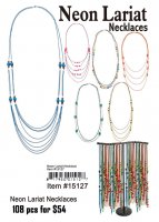 Neon Lariat Necklaces Wholesale