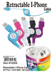 Retractable Iphone Charges Wholesale