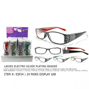 Ladies Electro Silver Plating Readers