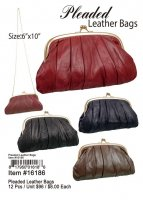 Pleaded Leather Bags Wholesale