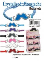 Moustache Crystalized Bracelets NOW ON CLEARANCE