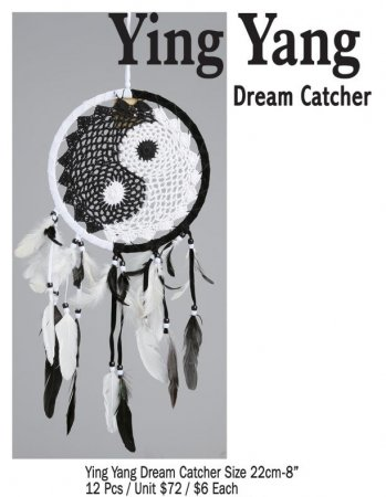 Ying Yang Dream Catcher 22 CM / 8 Inches