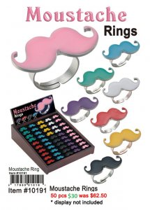 Moustache Rings NOW ON CLEARANCE
