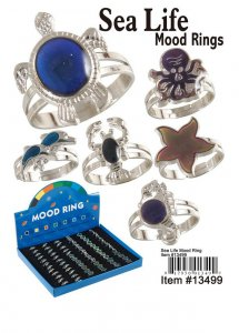 Sea Life Mood Rings Wholesale
