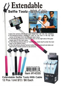 Selfie Tool with Cable Wholesale