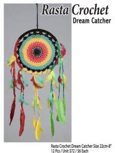 Rasta Crochet Dream Catcher 22