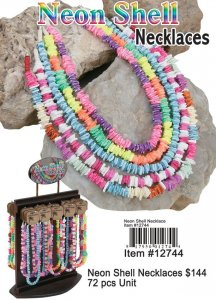 Wholesale Neon Shell Necklace