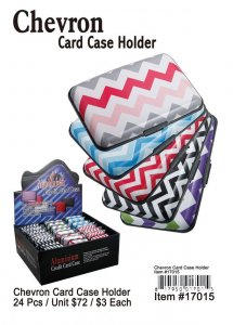 Chevron Card Case Holders Wholesale