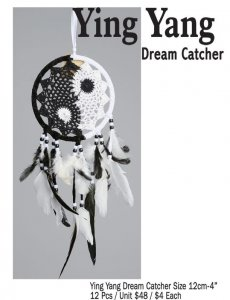 Ying Yang Dream Catcher 12 CM / 4 Inches