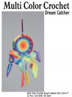 Multi Color Crochet Dream Catcher 12 CM