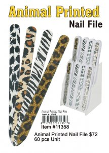 Animal Printed Nailfile Wholesale