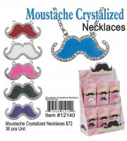 Moustache Crystalized Necklaces NOW ON CLEARANCE