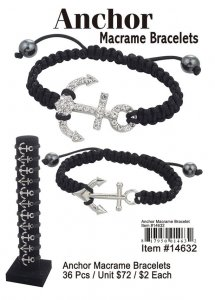 Anchor Macrame Bracelets Wholesale