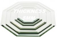 5mm Beveled Edge OCTAGON Mirrors in Various Sizes and lots