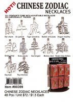 Chinese Zodiac Pewter Necklaces Wholesale