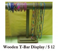 Wooden T-Bar Display